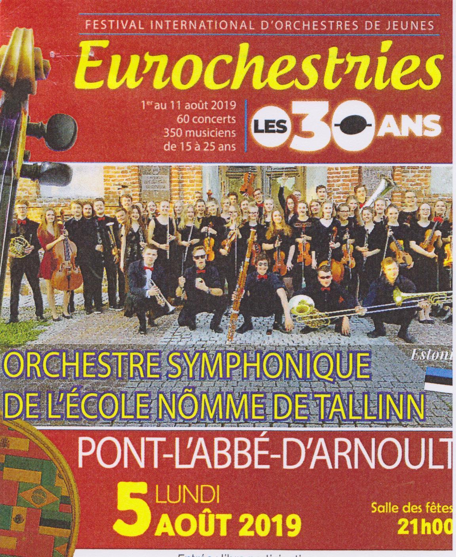 Affiche des Eurochestries à Pont l'Abbé d'Arnoult