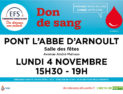 Don de sang - Lundi 4 novembre 2019